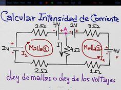 Calcular la corriente usando las Leyes de Kirchhoff en circuitos complej...