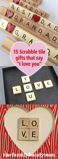 If you're looking for a meaningful Valentine's gift this year, try getting creative with Scrabble tile crafts. Try making one of these 15 Valentine gifts. Scrabble Letter Crafts, Scrabble Words, Crafts With Scrabble Tiles, Diy Galaxy Slime, Valentine Crafts, Valentine Ideas, Valentines, Crafts To Make, Diy Gifts