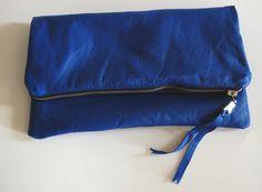 Leather Foldover Clutch Purse