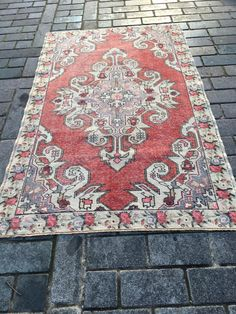 Boho Decor, Bohemian Rug, Medium Rugs, Rustic Rugs, Turkish Kilim Rugs, Small Rugs, Handmade Rugs, Rugs On Carpet, Vintage Rugs
