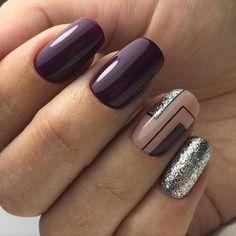 29 Trendy nail art ideas for winter classy Latest Nail Art, Trendy Nail Art, Stylish Nails, Classy Nail Designs, Winter Nail Designs, Nail Art Designs, Nails Design, Hair And Nails, My Nails