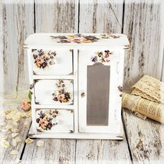 Sophia Vintage look Mini decoupage wooden chest by Alenahandmade, $65.00