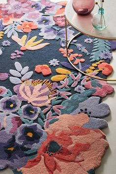 Tufted Jardin Rug by Anthropologie in Blue Rugs - Kids Rugs - Ideas of Kids Rugs Home Decor Styles, Home Decor Accessories, Decorative Accessories, Diy Home Decor, Room Decor, Decoration Ikea, Hanging Furniture, Soft Flooring, Natural Fiber Rugs