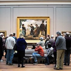 """A moment captured by @curatedmemories: """"Watching people process the art is just as interesting as the paintings themselves."""" #myngadc #igdc #mydccool #acreativedc #lookcarefully #regram by ngadc"""