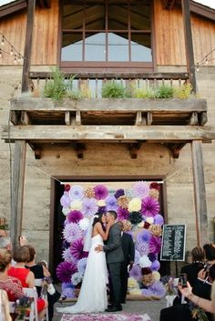 purple pinwheel wedding backdrop different colors and I could totally see this