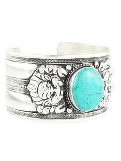 Aolani Turquoise Amulet Cuff Bracelet – Shop Dixi
