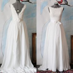 I love this shop so pretty!   Angie Wedding Dress GownMade to order by TingBridal on Etsy, $1550.00