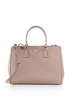 Prada Saffiano Medium Double Zip Top-Handle Bag  AED 9876.88