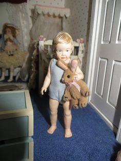 Dollhouse Miniature Artisan Susan Scogin Naida Andrew Sculpted Doll Limited Ed | eBay