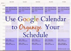 Use Google Calendar to Organize Your Schedule ⋆ A Little R & R