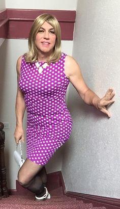 White polka dots over purple party Dress !Bethany