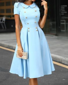 Casual Dresses Boho Kleid Blue Wedding Dress Plus Size Maxi Dresses - Women's style: Patterns of sustainability Beautiful Casual Dresses, Classy Dress, Elegant Dresses, Vintage Dresses, Sexy Dresses, Plus Size Maxi Dresses, Short Sleeve Dresses, Dresses For Work, Dresses Dresses