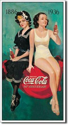 fondos hipster - Buscar con Google Coca Cola Poster, Coca Cola Drink, Cola Drinks, Coca Cola Ad, Always Coca Cola, Coca Cola Vintage, Vintage Advertisements, Vintage Ads, Vintage Signs