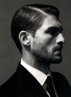 Classic side part. Very neat and slick  Short men's haircut, slicked back with a side part #men #mens #haircut #haircuts #crop #short #shorthair #mensshorthair #male #sexy #coolmenshaircuts #awesomemenshaircuts #salon #salonhaircuts #great #style #styles #dapper #funhaircuts #guy #guys #tapered #trendy #coif #slickedback #sidepart www.gmichaelsalon.com