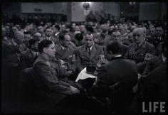 Remembrance of the Munich Putsch : Here Baldur von Schirach (Reich Youth Leader) with other 'Alte Kämpfer' (Old Fighters) in the Burgerbraukeller at Munich Germany on November 9, 1938, Photograph by Hugo Jaeger.