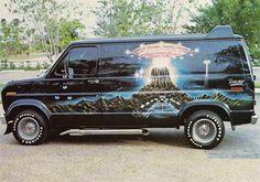 Close Encounters of the Third Kind (movie) themed Ford Station Wagon, General Motors, Land Rover Defender, Old School Vans, Dodge Van, Painted Vans, Vanz, Cool Vans, Close Encounters