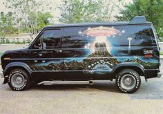 Custom Ford van.