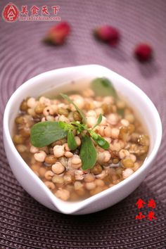 Purslane mung bean barley soup – Weight Loss – Chinese meal