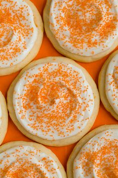 Orange Creamsicle Sugar Cookies - These cookies are amazing to say the least! You wouldn't believe how much orange flavor they have and it goes perfect with the cream cheese frosting. Truly a melt in your mouth cookie!