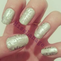 Delicate Wintery Nail Art Stamping with Pro Collection 10