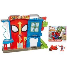 Marvel Spider-Man Adventures Playskool Heroes Electronic Spider-Man Stunt City Playset - Have birthday Ryder Paw Patrol, Mega Pokemon, Pokemon Games, Top Toys, Toys R Us, Stunts, Kids Christmas, Kids Playing, Action Figures