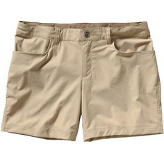 Patagonia Women's Quandary Short ($59) ❤ liked on Polyvore featuring shorts, el cap khaki, patagonia and patagonia sportswear