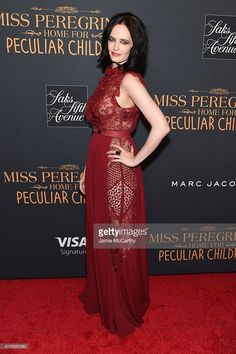 Eva Green attends the 'Miss Peregrine's Home For Peculiar Children' premiere at Saks Fifth Avenue on September 26, 2016 in New York City.