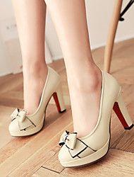Chaussures Femme - Extérieure   Bureau   Travail   Décontracté - Noir    Vert   Rose   Amande - Gros Talon - Talons   A Plateau - Talons - 4e5053643b59