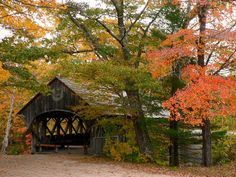 The Sunday River Covered Bridge in Newry, Maine was