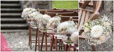 Solsgirth House Wedding - Pretty Pew Ends - Edinburgh Wedding Photographer Julie Tinton - Rogue Flowers -Edinburgh Wedding Photographer Julie Tinton Photography
