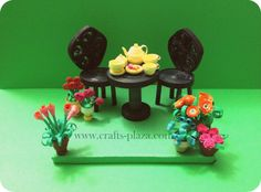 welcome to the tea party. Entirely made with quilled paper.