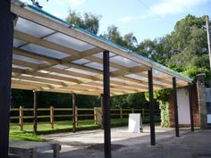 Polycarbonate 10mm Carport, Lean-to roof with Fixings 695mm wide sheets | eBay