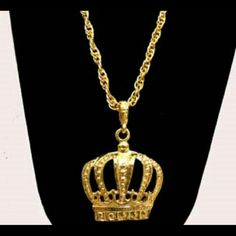 24' Crown Necklace New 24' Gold plated Rima Imar  Jewelry Necklaces