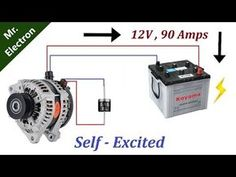 90 Amps Car Alternator to Self Excited Generator using DIODE Electronic Circuit Projects, Electrical Projects, Electronics Projects, Diy Generator, Homemade Generator, Battery Generator, Iveco 4x4, Electrical Circuit Diagram, Electronic Schematics