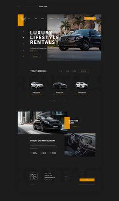 Luxury Car Rentals / Florida, US on Behance Ui Ux Design, News Web Design, Homepage Design, Newsletter Design, Portfolio Web Design, Blog Website Design, Website Design Inspiration, Website Ideas, Web Layout