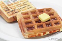 "How to make a Waffle Postcard ~ ""Send well-wishes to your waffle-loving friends with this mailable waffle postcard. It takes a few days for the modeling compound and the ""syrup"" to dry, but it's totally worth the effort. You won't believe how real it looks when you're done! And just imagine the smile on someone's face when he or she pulls a waffle out of the mailbox. Priceless."""