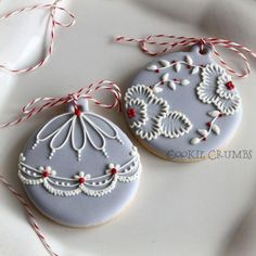New cookies christmas recipes holiday gift ideas ideas Cookies Cupcake, Fancy Cookies, Iced Cookies, Cute Cookies, Royal Icing Cookies, Cookies Et Biscuits, Cupcakes, Baking Cookies, Christmas Sugar Cookies