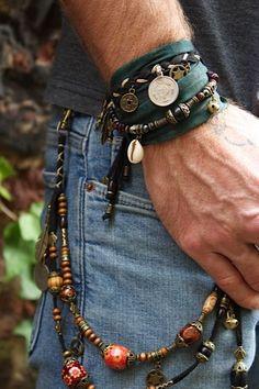 Chubster loves accessories - Plus Size Men fashion - Mode homme grande taille - Accessoires pour homme - - - - - - - - - - - - - - Braided Bracelets, Bracelets For Men, Fashion Bracelets, Fashion Jewelry, Male Jewelry, Men's Jewelry, Leather Bracelets, Bracelet Men, Jewelry For Men