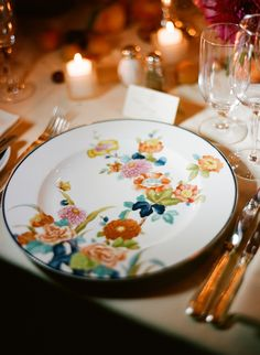 china used for a wedding reception at The Carlyle Restaurant in NYC