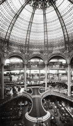 Les Galeries Lafayette en 1912.