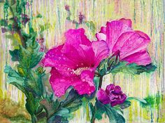 Living Water: If you knew the gift of God and who it is that asks you for a drink, you would have asked Him and He would have given you living water. John 4:10 #home #decor #art #christian #god #Rose #Sharon #Flower #painting