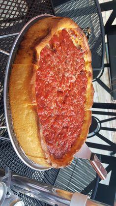 Chicago Deep Dish...... Bartoli's in Roscoe Village #pizza #food #foodporn #yummy #love #dinner #salsa #recipe