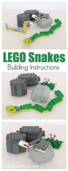 Slithering Snakes LEGO Building Instructions - Fun LEGO challenge for kids!