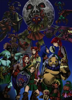 The Legend of Zelda: Majora's Mask ムジュラの仮面 by ゆきち Mario, Majora Mask, Legend Of Zelda Characters, See Games, Wind Waker, Twilight Princess, Breath Of The Wild, Mega Man, Great Stories