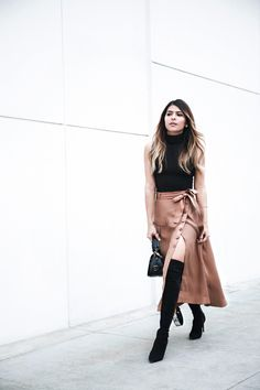Over-the-knee boots, high slit skirt, sleeveless turtleneck, Pam Hetlinger, The Girl From Panama