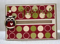 Stampin' UP! - Christmas - Weihnachten - Eulenstanze - Owl Punch - Kullerkarte - Spinner card - Santa Owl - Nikolauseule