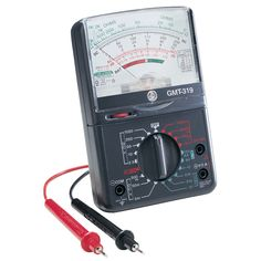 Professional multi meter tester Test the outlet current before working 19 different ranges 7 different functions UL rated Audible continuity tester Overload protection Dual silicon diode Tests AC volt