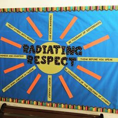 Bulletin board idea for spring (School Counseling from A-Z) Respect Bulletin Boards, Counselor Bulletin Boards, Spring Bulletin Boards, Classroom Bulletin Boards, Bulletin Board Ideas Middle School, Character Bulletin Boards, Guidance Bulletin Boards, Bullying Bulletin Boards, Kindness Bulletin Board