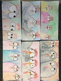 Hühner in Reihe art for kids school classroom Spring Art Projects, School Art Projects, Spring Crafts, Classe D'art, Kindergarten Art Lessons, 2nd Grade Art, Easter Art, Easter Crafts, Classroom Crafts