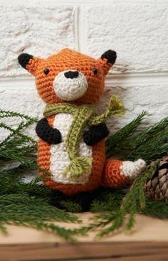 Fox Ornament Free Crochet Amigurumi Pattern from Red Heart Yarns